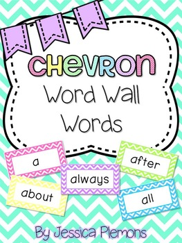 Word Wall Word Cards (200+): Chevron