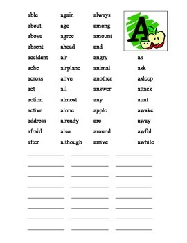 Word Wall Words Book