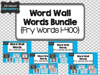 Word Wall Words Bundle