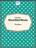 Word Wall Template Editable