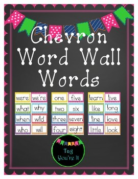 Word Wall Words in Chevron