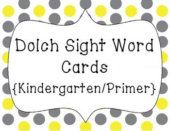 Word Wall Words/Dolch Sight Words {Kindergarten/Primer}