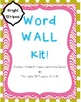 Word Wall and Word Family Wall: Bright Stripes (BUNDLE pack!)