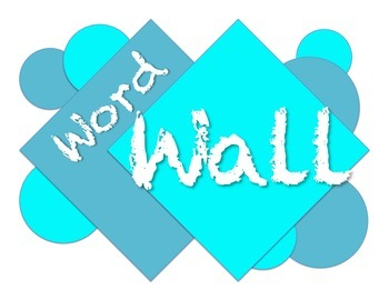 Word Wall bulletin board 2-tone