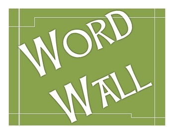 Word Wall bulletin board green
