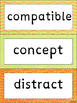 Word Wall cards for use with Wordly Wise 5th grade