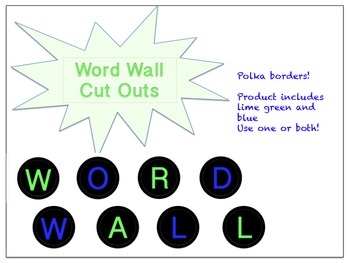 Word Wall cut outs for bulletin board