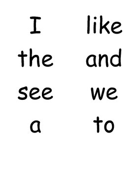 Word Wall for Kindergarten Journeys Units 1 and 2