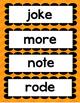Word Wall words- Long Vowel 6 word lists- a_e, i_e, o_e, u