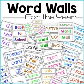 Word Walls for the Year