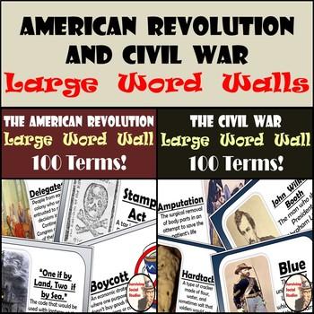 Word Walls (Large) - American Revolution & Civil War - 200
