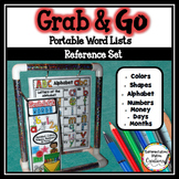 Word Walls: Shapes, Colors, Money, Alphabet, Numbers, Mont