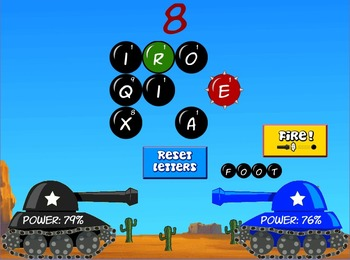 Word War - Spelling word forming game. (Playable at RoomRe