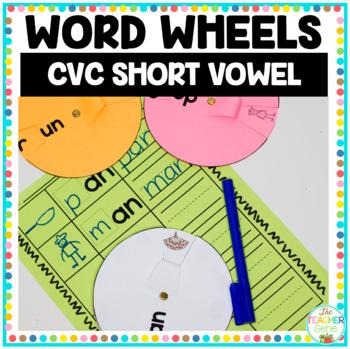 Word Wheels - Short Vowel Word Family Word Wheels