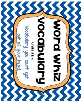 Word Whiz Vocabulary- Units 3 & 4 Context Clues