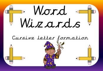 Word Wizards cursive letter formation