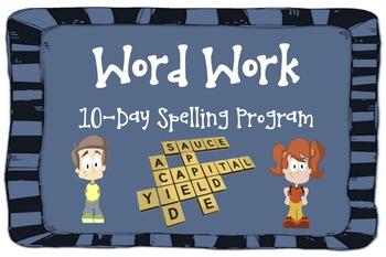 Word Work 10 Day Spelling Program
