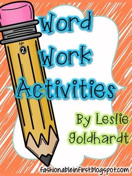 Word Work Activities Recoding Sheets