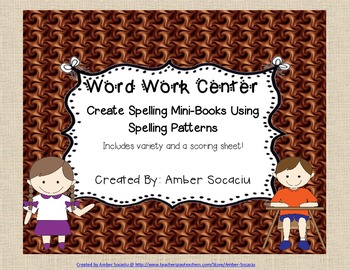 Word Work Activities for Spelling Patterns