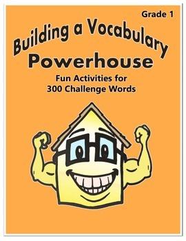 Word Work Activity - Challenge Words Grade 1 Week 3 - 4