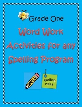 Spelling Task Cards/Word Work Sheets: Use With Any Spelling List!