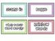 Word Work Bin Labels in Chevron