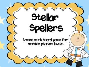 Word Work Board Game: Stellar Spellers