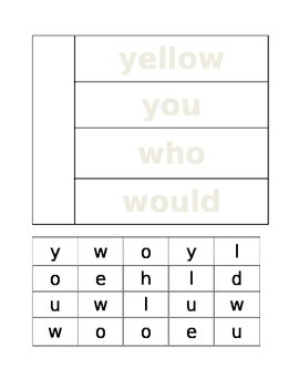 Word Work: Building Sight Words