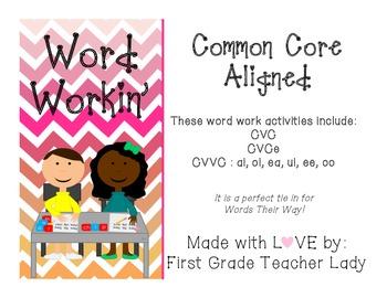 Word Work CVC CVCe CVVC