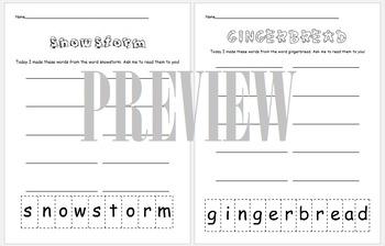 Word Work Center- Making Words