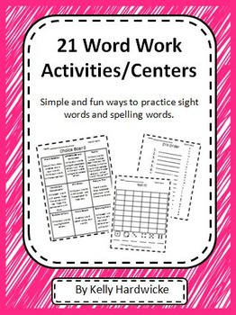 Word Work Centers/Activities  Print and Go!
