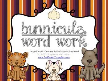 Word Work Centers: Bunnicula