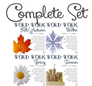 Word Work Centers: Four Seasons {Complete Set}