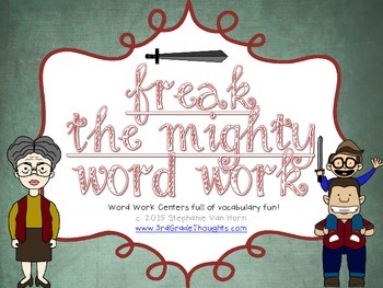 Word Work Centers: Freak the Mighty