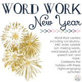 Word Work Centers: Ring In The New Year