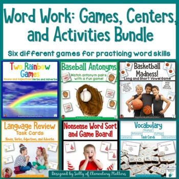 Word Work Games and Activities