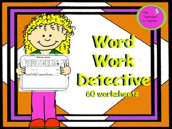 Word Work Detective 60 Worksheets
