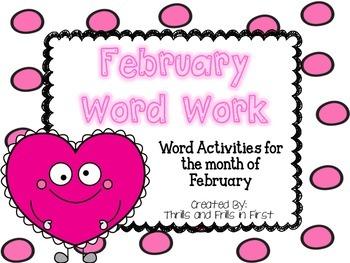 February Word Work Freebie