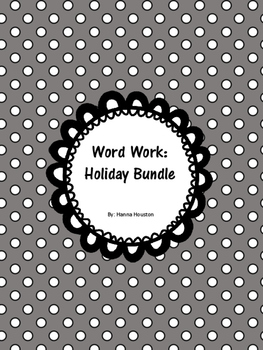 Word Work - Holiday Bundle