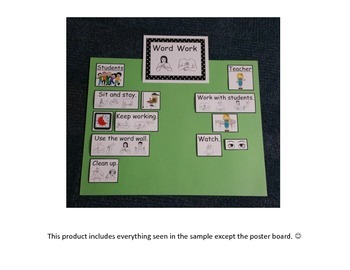Word Work I-Chart with Sign Language/Visual Supports