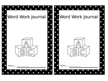 Word Work Journal Label