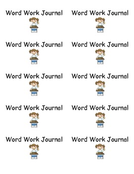 Word Work Journal Labels