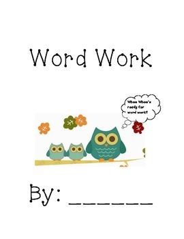 Word Work Literacy by Design 2nd grade Theme 1&2