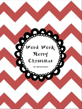 Word Work - Merry Christmas