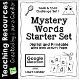 Word Work - Mystery Words Set 1