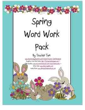 Word Work Pack--Spring Version