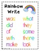 Word Work Posters and Worksheets for ANY Words, ALL Year!