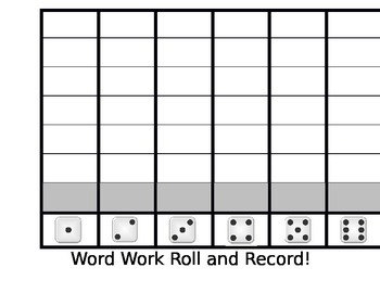 Word Work Roll and Record