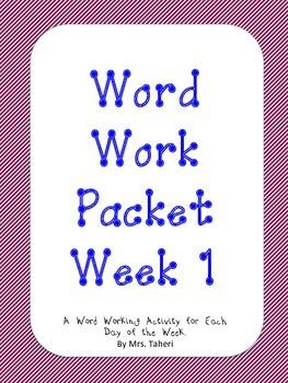 Word Work Short a Short i