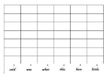 Word Work - Sight Word Dice Roll